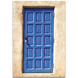Eclectic Wall Art Blue Door - Architecture Decor on Metal or Plexiglass