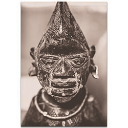 Eclectic Wall Art Voodoo Statue - Religion Decor on Metal or Plexiglass