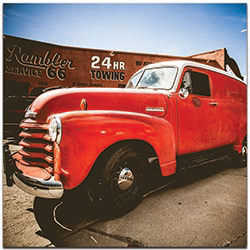 Americana Wall Art Big Red - Classic Truck Decor on Metal or Plexiglass