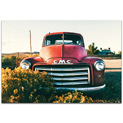 Americana Wall Art GMC Grill - Classic Truck Decor on Metal or Plexiglass