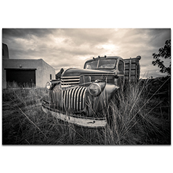 Americana Wall Art Farm Truck - Classic Truck Decor on Metal or Plexiglass