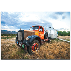 Americana Wall Art The Workhorse - Classic Truck Decor on Metal or Plexiglass