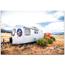 Americana Wall Art Airstream Lady - Classic Cars Decor on Metal or Plexiglass