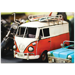 Americana Wall Art VW Tribute - Classic Cars Decor on Metal or Plexiglass