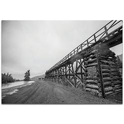 Western Wall Art Old Railroad Bridge - Bridges Decor on Metal or Plexiglass