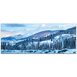 Landscape Photography The Slopes - Winter Scene Art on Metal or Plexiglass