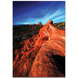 Landscape Photography Red Ridge - Desert Scene Art on Metal or Plexiglass