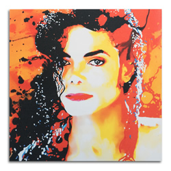 Michael Jackson - Pop Art Painting by Mark Lewis, giclee Print on Metal