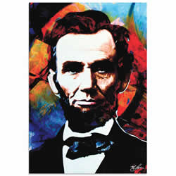 Mark Lewis Abraham Lincoln Knowing Lincoln Limited Edition Pop Art Print on Metal or Acrylic