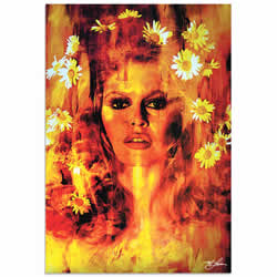 Mark Lewis Bridget Bardot Life Captured Limited Edition Pop Art Print on Metal or Acrylic