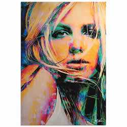 Mark Lewis Britney Spears Snow Blind Limited Edition Pop Art Print on Metal or Acrylic