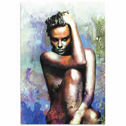 Mark Lewis Charlize Theron Blue Daze 2 Limited Edition Pop Art Print on Metal or Acrylic