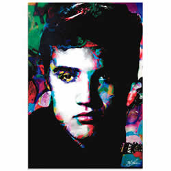 Mark Lewis Elvis Presley Electric Ambition Limited Edition Pop Art Print on Metal or Acrylic
