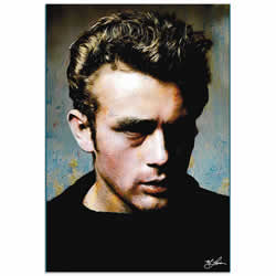 Mark Lewis James Dean Gentle Trust Limited Edition Pop Art Print on Metal or Acrylic