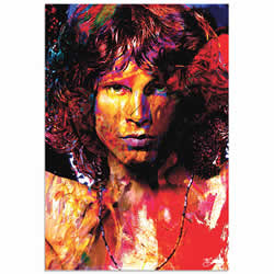 Mark Lewis Jim Morrison Window of My Soul Limited Edition Pop Art Print on Metal or Acrylic