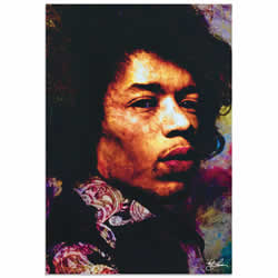 Mark Lewis Jimi Hendrix Imagination Key Limited Edition Pop Art Print on Metal or Acrylic