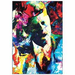 Mark Lewis John F Kennedy JFK Limited Edition Pop Art Print on Metal or Acrylic