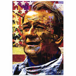 Mark Lewis John Wayne Faded Glory Limited Edition Pop Art Print on Metal or Acrylic