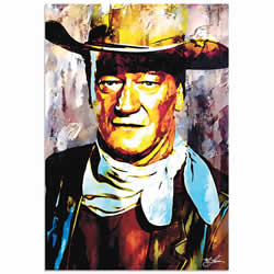 Mark Lewis John Wayne Gallant Duke Limited Edition Pop Art Print on Metal or Acrylic