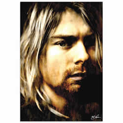 Mark Lewis Kurt Cobain As Darkness Fell Limited Edition Pop Art Print on Metal or Acrylic