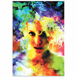 Mark Lewis Lady Gaga Study Limited Edition Pop Art Print on Metal or Acrylic