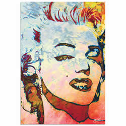 Mark Lewis Marilyn Monroe Red Limited Edition Pop Art Print on Metal or Acrylic