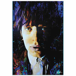 Mark Lewis Mic Jagger Poetic Secrets Limited Edition Pop Art Print on Metal or Acrylic