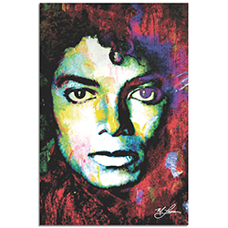 Mark Lewis Michael Jackson Study 1 22in x 32in Celebrity Pop Art on Metal or Plexiglass