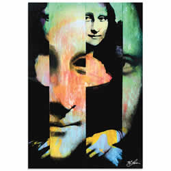 Mark Lewis Mona Lisa Noble Purity Limited Edition Pop Art Print on Metal or Acrylic