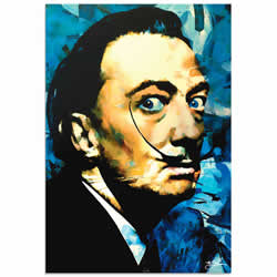 Mark Lewis Salvador Dali Apparatus Man Limited Edition Pop Art Print on Metal or Acrylic