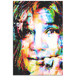 Mark Lewis Janis Joplin Declaration of Soul 22in x 32in Celebrity Pop Art on Metal or Plexiglass