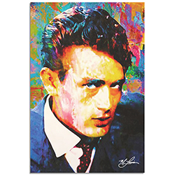 Mark Lewis James Dean Lifes Significance 22in x 32in Celebrity Pop Art on Metal or Plexiglass