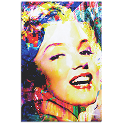 Mark Lewis Marilyn Monroe Marilyn Bee 22in x 32in Celebrity Pop Art on Metal or Plexiglass