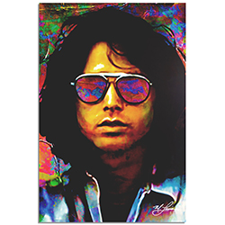 Mark Lewis Jim Morrison Insightful Chaos 22in x 32in Celebrity Pop Art on Metal or Plexiglass