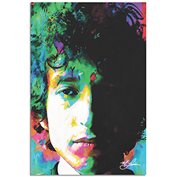 Mark Lewis Bob Dylan Natural Memory 22in x 32in Celebrity Pop Art on Metal or Plexiglass