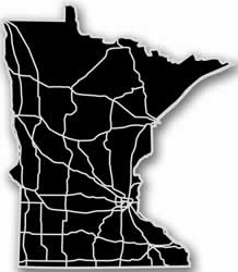 Minnesota - Acrylic Cutout State Map - Black/Grey USA States Acrylic Art