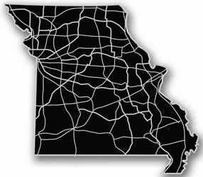 Missouri - Acrylic Cutout State Map - Black/Grey USA States Acrylic Art