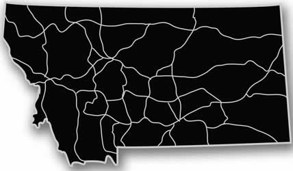 Montana - Acrylic Cutout State Map - Black/Grey USA States Acrylic Art