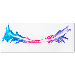 Energy | Colorful Contemporary Painting giclee on Metal, Abstract Rainbow Color-Splash Style