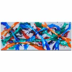 Color Dance - Blue, Orange, Pink, Purple, Red, Teal, & White Painting, Modern Abstract Art, Contemporary Eclectic Decor