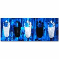 Graffiti Homage in Blue - Contemporary Urban Wall Art, Graffiti Painting Artwork, Modern giclee Decor