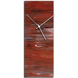 Mendo Vasilevski City Brick Clock Large 9in x 24in Modern Wall Clock on Aluminum Composite
