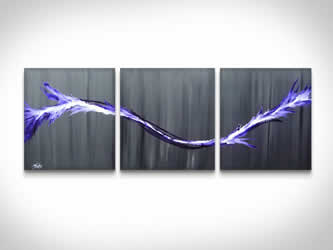 Purple Splash  - Original Canvas Art