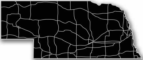 Nebraska - Acrylic Cutout State Map - Black/Grey USA States Acrylic Art