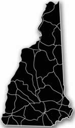 New Hampshire - Acrylic Cutout State Map - Black/Grey USA States Acrylic Art