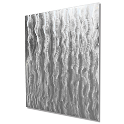 Minimalist Metal Art The Oaks - Modern Artwork on Natural Aluminum