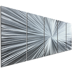 The Light by Nate Halley - Starburst Metal Art on Natural Aluminum