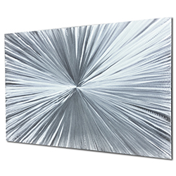 Bursting by Nate Halley - Sunburst Metal Art on Natural Aluminum