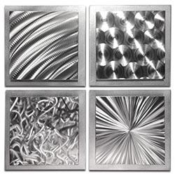 Silver Seasons 25x25in. Natural Aluminum Abstract Decor