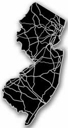 New Jersey - Acrylic Cutout State Map - Black/Grey USA States Acrylic Art